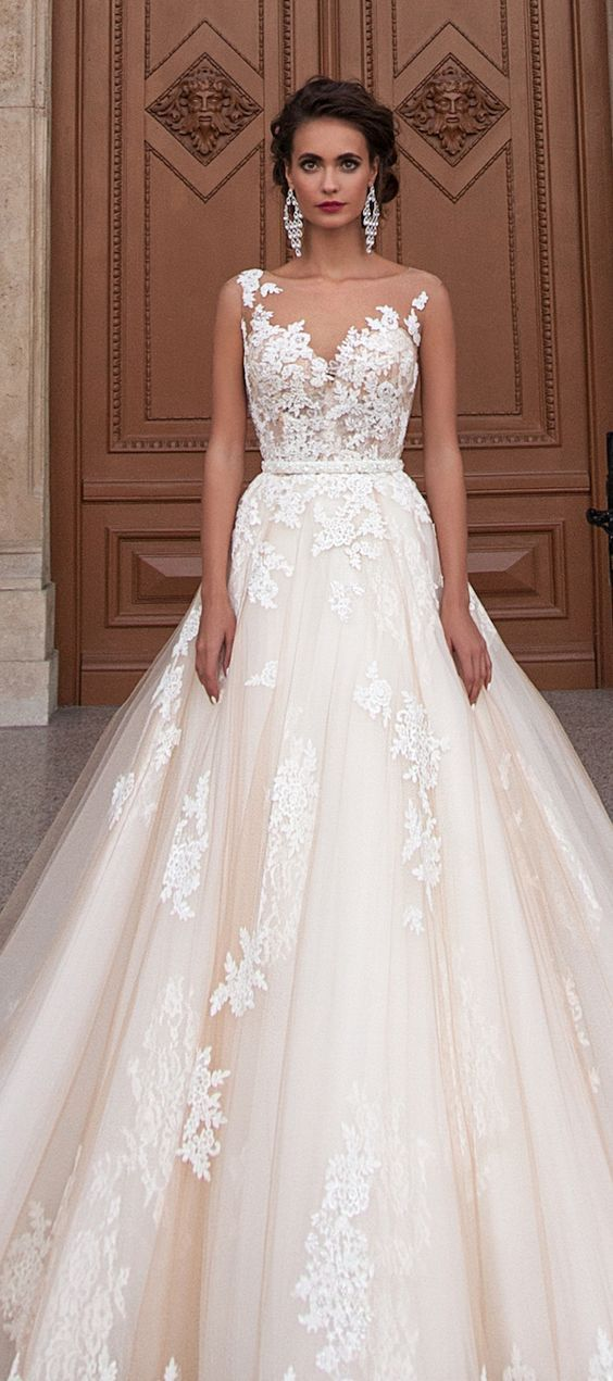 Wedding dress idea; Featured Dress: Milla Nova                                                                                                                                                                                 More
