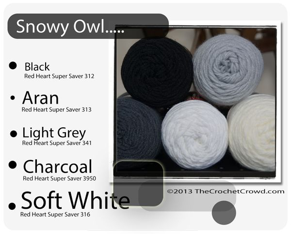 Red Heart Super Saver Color Mix: Snowy Owl