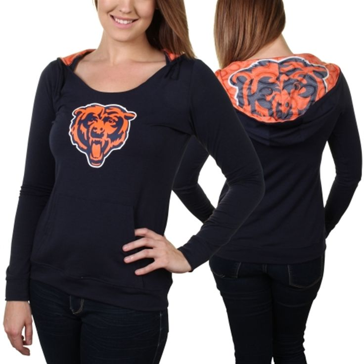 Chicago Bears Women's Navy Blue Sublime Knit Hoodie