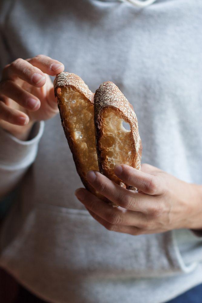 Pane semintergrale con farina di ceci.