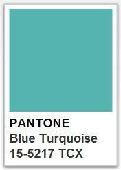 PANTONE 15 5217 Blue Turquoise / Color of the year 2005