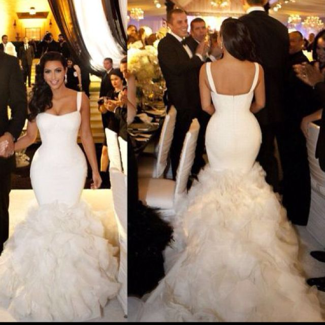 Even though the marriage was short and pathetic, I thought her dresses were beautiful