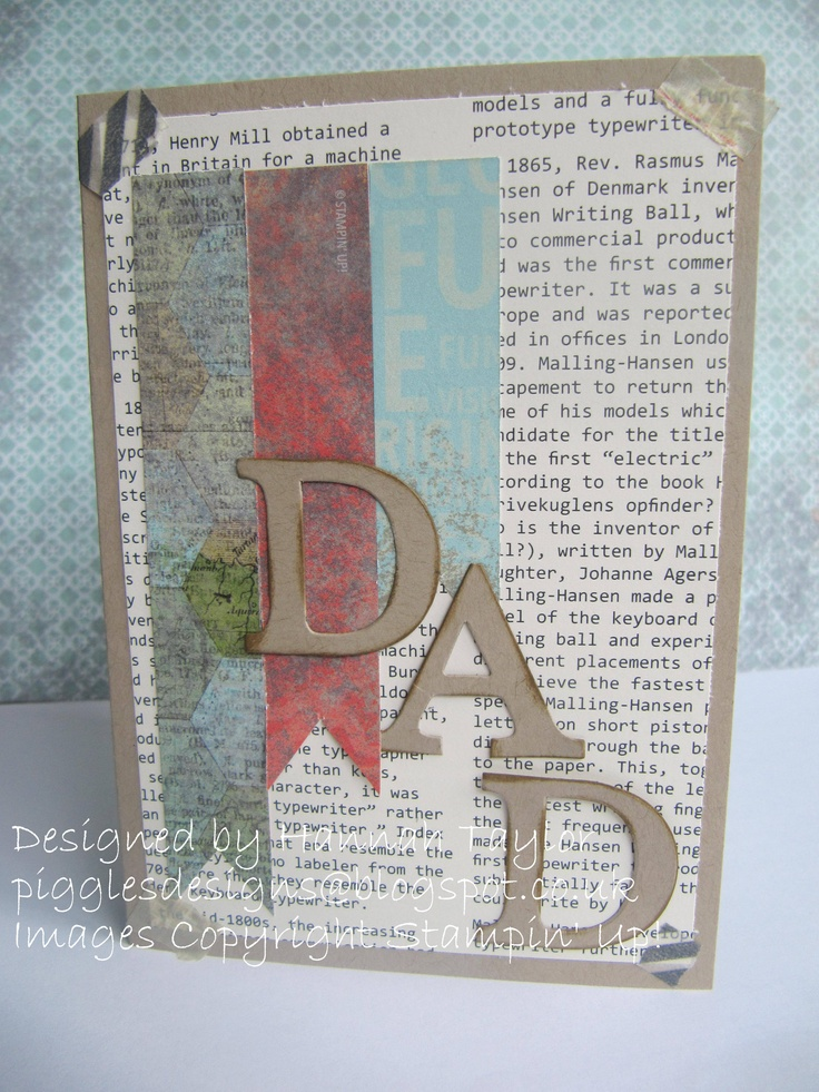 Dad card:Epic Day This and That DSP and washi tape.
