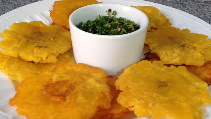 Cómo hacer Tostones o Patacones de plátano verde- Cocinando con Pamela