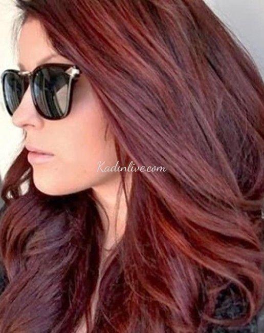 Koyu Kızıl Saç Rengi 2016 Moda Saç - Kadinlive.com