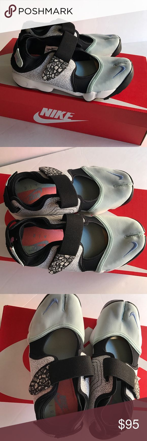 New Nike Air Rift shoes sz 7 Brand new in box Nike Air Rift women's shoes size 7 Velcro closure green/ black color:) Nike Shoes Athletic Shoes