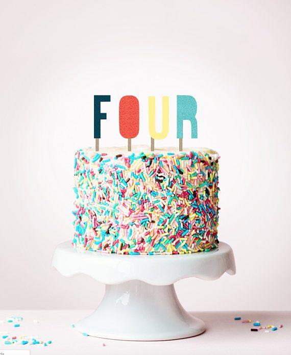 Modern letter cake topper Cakery Pinterest Letter cake toppers