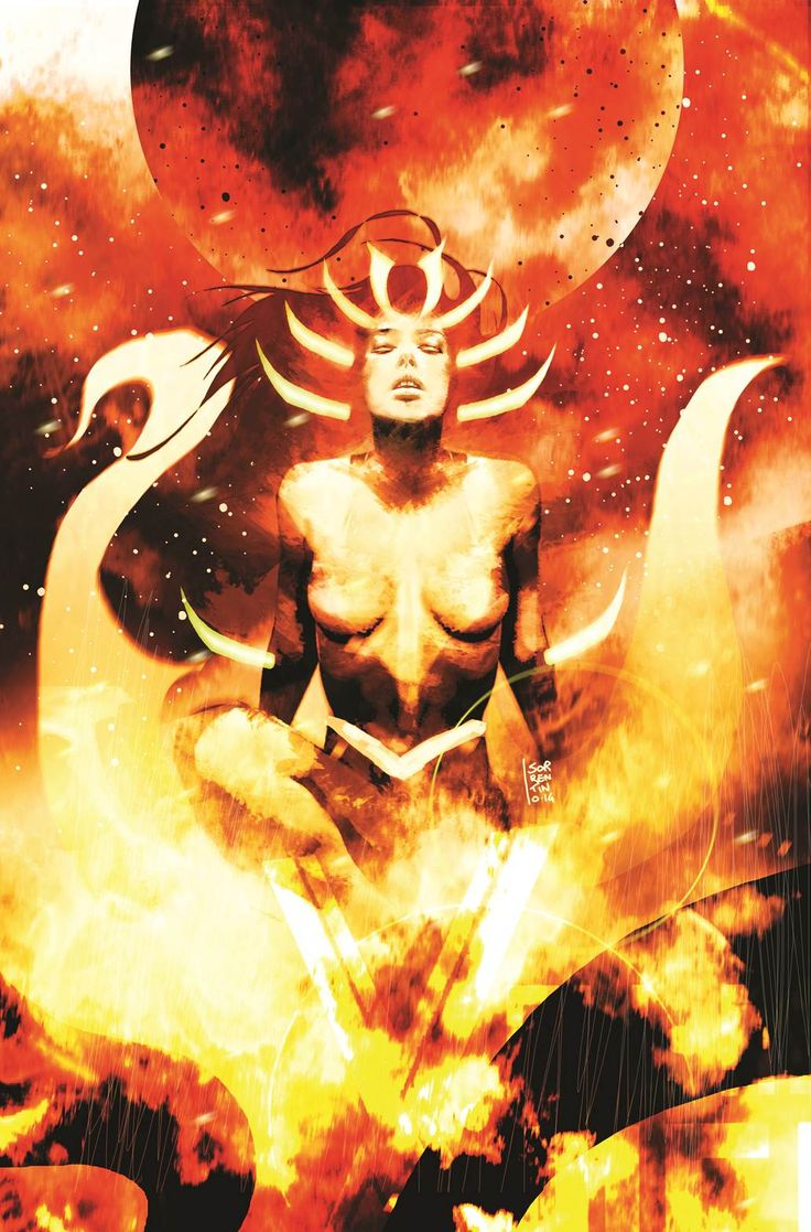 Black Vortex: Alpha - Guardians of the Galaxy #25 variant cover - Jean Grey by Andrea Sorrentino *