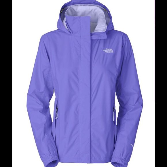 Northface Resolve Rain Jacket Northface rain jacket with pack-away hood. Slim fit women's style but still leaves room for lightweight layering underneath. Practically brand new, worn once but changed my mind on the color. The North Face Jackets & Coats