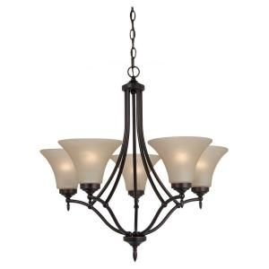 Sea Gull Lighting Montreal 5 Light Burnt Sienna Single Tier Chandelier
