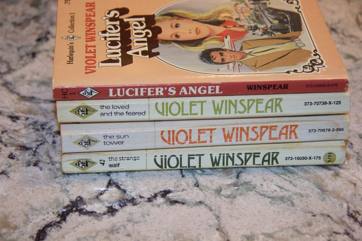 Four Vintage Harlequin Romances by Violet Winspear in good reading condition by TexicalGalsVintiques on Etsy