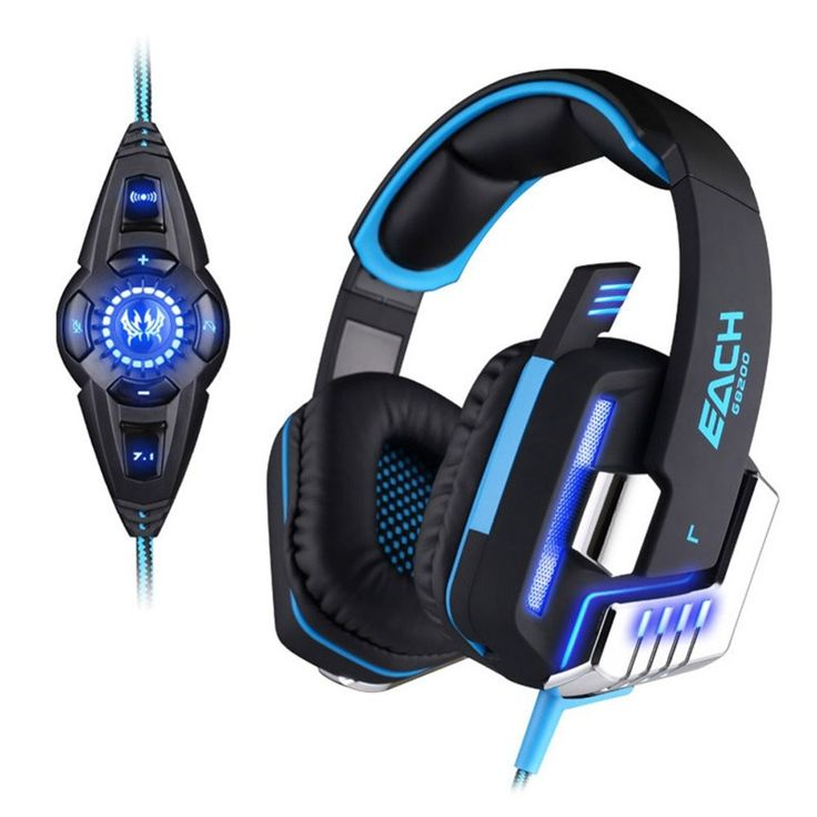 Buy online US $36.68  EACH G8200 Game Headphone Vibration 7.1 USB Surround Sound Gaming Headset Earphone casque with Mic LED Light for PC Gamer PS4  Get here: Xiaomi