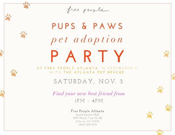 Pet Adoption Event At Free People Atlanta! – Free People Blog