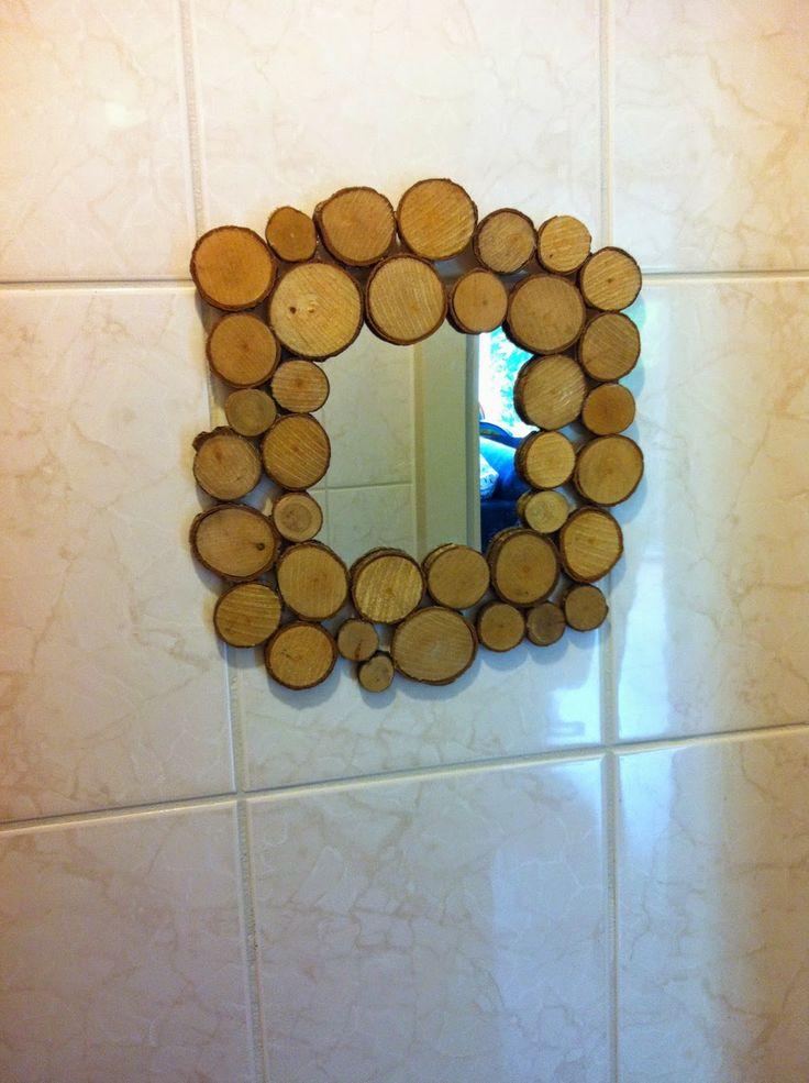 DIY spiegel met houten rand (+werkbeschrijving)   idee u00ebn met hout   Pinterest   Doe het zelf en Met