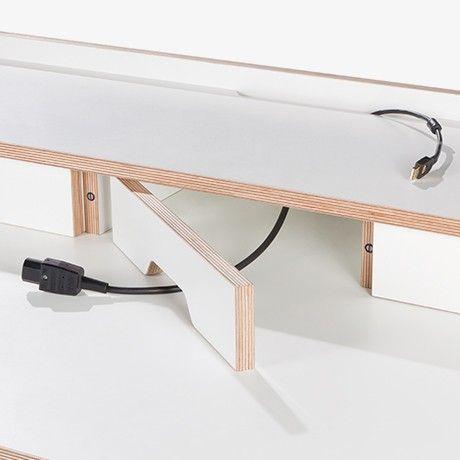 Sekretär - Weiß von Müller Möbelwerkstätten | MONOQI