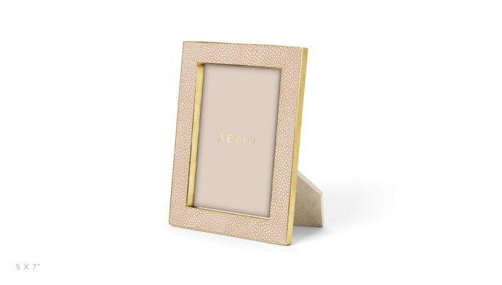 AERIN, Blush Shagreen Photo Frame - LuxDeco.com