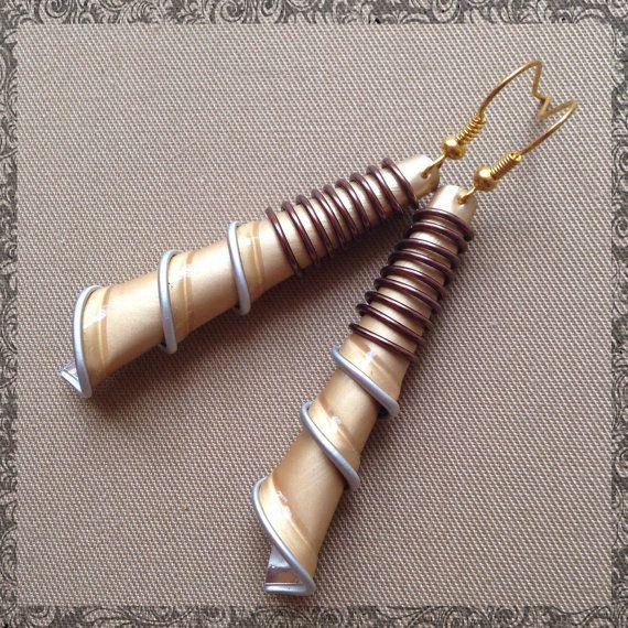 Orecchini con Cialde Nespresso e filo wire by IGingilliDiMartina