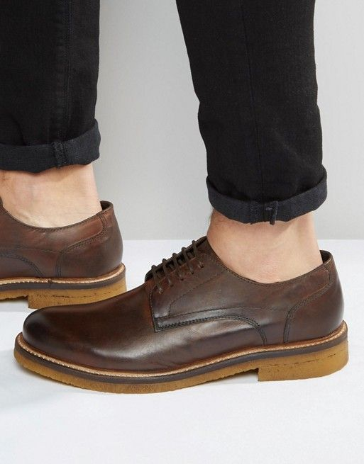 Base London Lincoln Leather Derby Shoes - $92.50