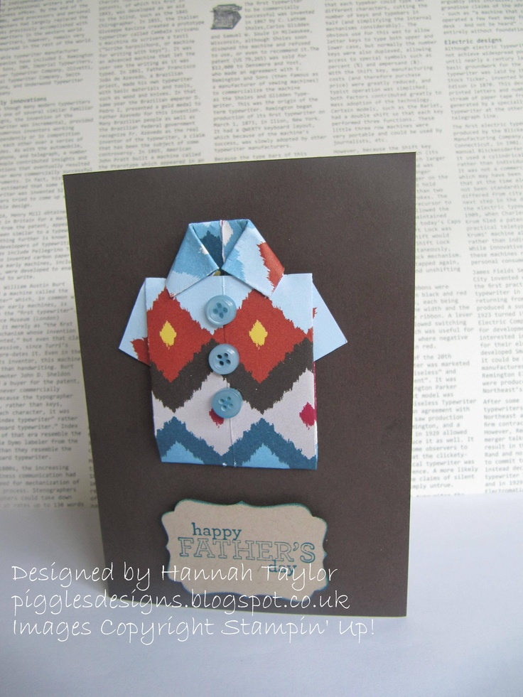 Origami Fathers Day card