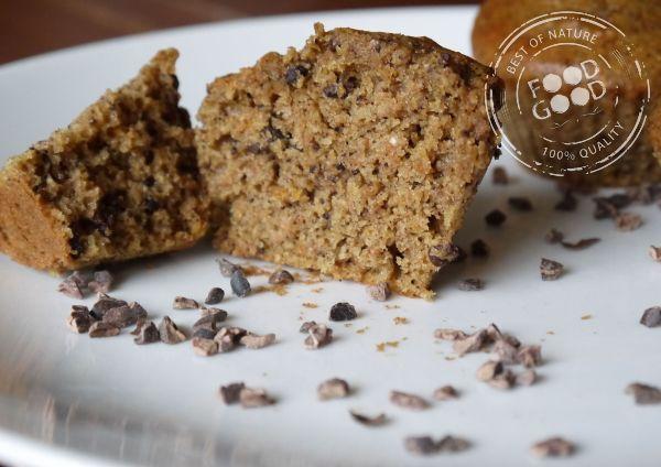 Sinaasappelmuffins met cacaonibs - Food is good