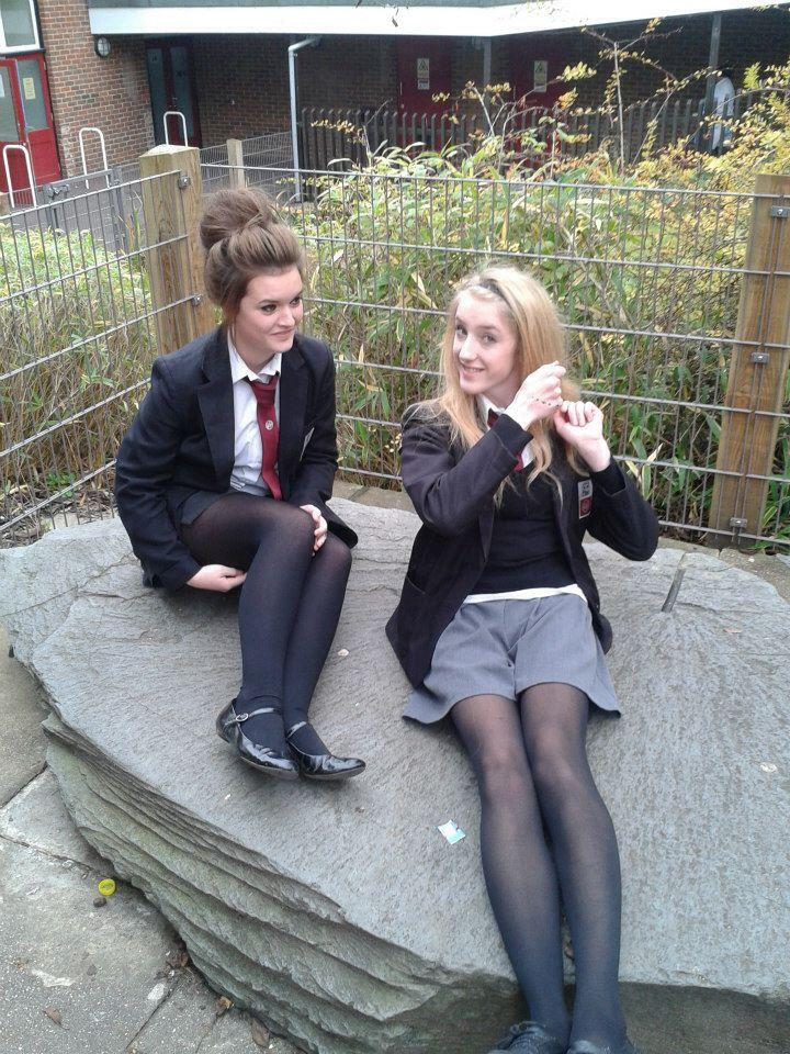 Young british school girls