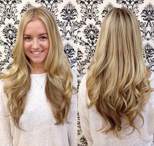 long blonde layered haircut