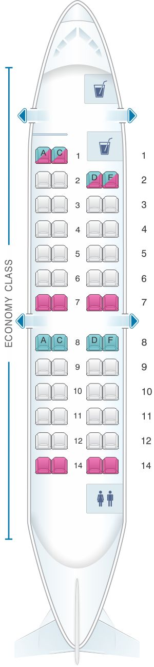 Seat Map Iberia Regional – Air Nostrum CRJ 200