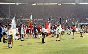 World Cup 1966 : the opening ceremony at Wembley Stadium