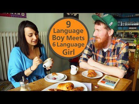 Babbel Voices | 9 Language Boy Meets 6 Language Girl - YouTube