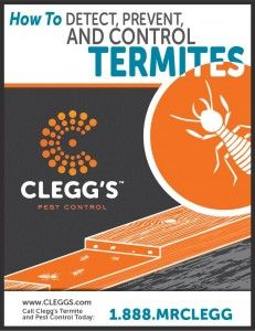 Download this free guide on how to detect, prevent, and control termites from Clegg's Pest Control.