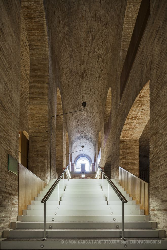 'Dipòsit de les Aigües' Library, located at UPF Ciutadella Campus, Barcelona, Spain