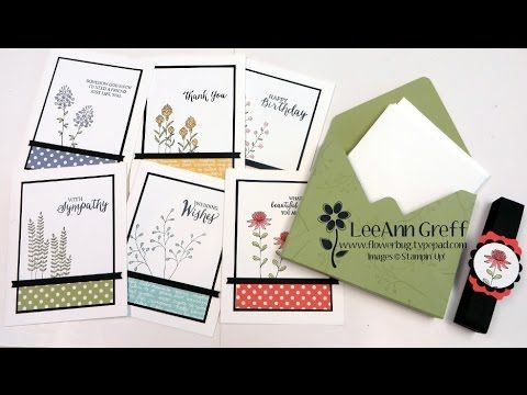 A2 Envelope Punch Board Card Box & Flowering Fields cards - Flowerbug's Inkspot