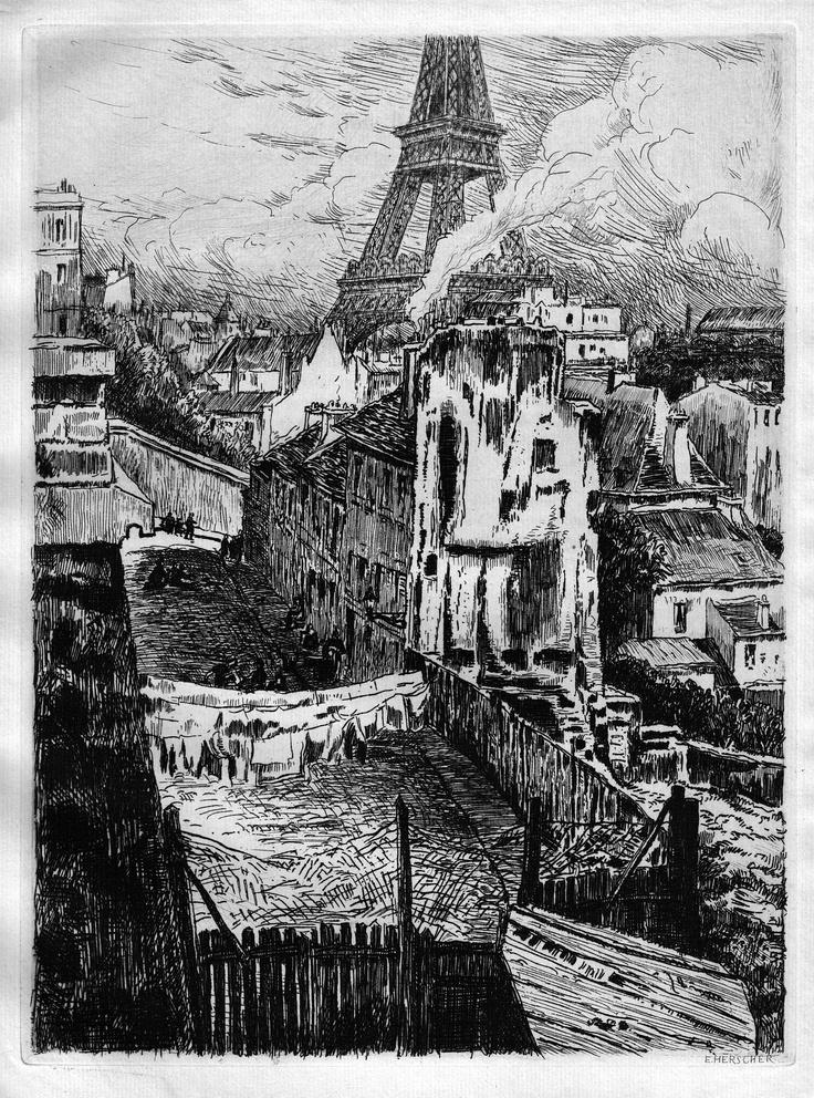 Rue Beethoven - Paris - De l'emplacement occupé actuellement par le n°19 du boulevard Delessert (1906)