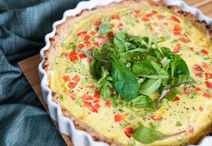 Oppskrift på proteinrik pai med egg, cottage cheese og vårløk