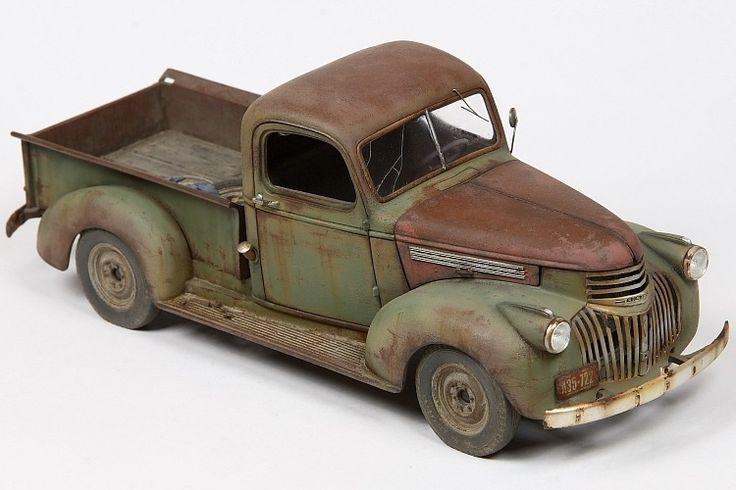 revells 1 24 scale model 41 chevy pickup by john tolcher automotive rust civilian vehicle. Black Bedroom Furniture Sets. Home Design Ideas