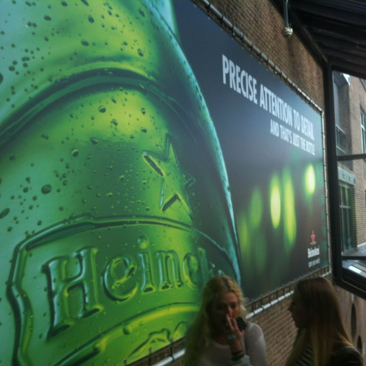 Heineken, Sterk: Groot, opvallend en herkenbaar.