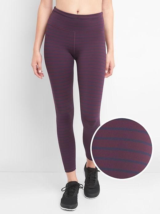 d47d29b82a Gap Women's Gapfit Blackout Stripe 7/8 Leggings True Black ...