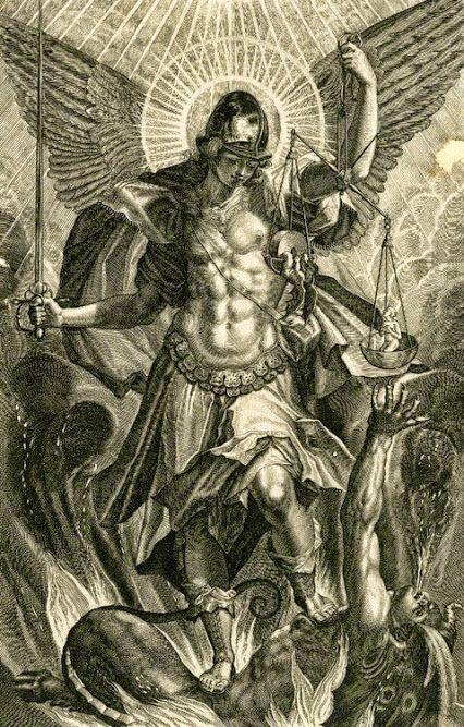 raphael Sadeler II (After Pieter de Witte), Saint Michael the Archangel  (engraving), 1604