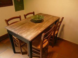 Mesa Cocina Rustica. Finest Mesa Tocinera Como Barra De Desayuno ...