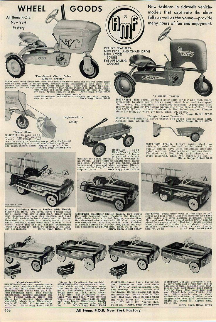 1956 ad amf pedal cars farm tractor