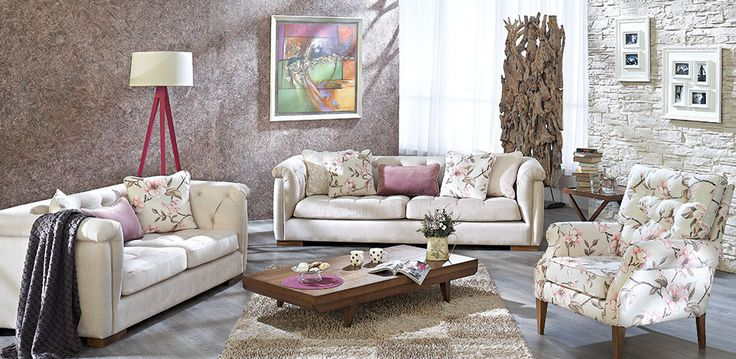 Floral patterns in the living room