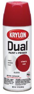 Krylon 8805 'Dual' Gloss Cherry Red Paint and Primer - 12 oz. Aerosol : Amazon.com : Automotive Used this on my metal bed. It worked great.