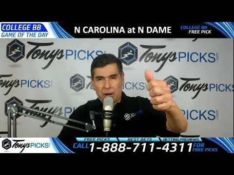 North Carolina Tar Heels vs. Notre Dame Free NCAA Basketball Picks and P...