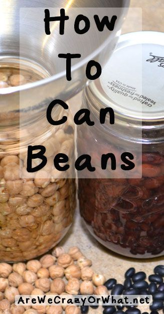 Step by step directions for canning dry beans. Although the procedure is the same for all dry beans, I use black beans and garbanzo beans as an example. #beselfreliant