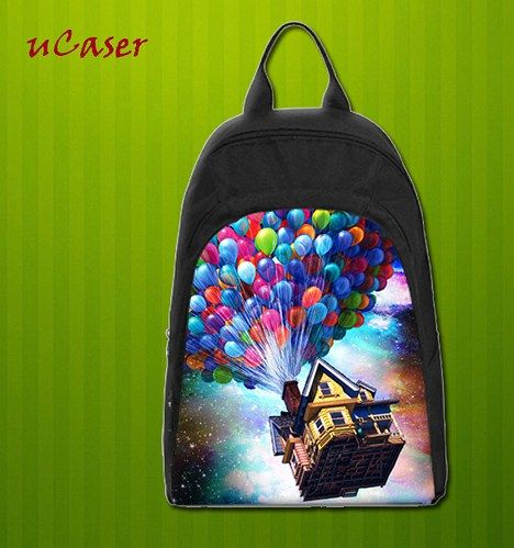 Balloon Flying House nebula Custom Casual school bag, Backpack