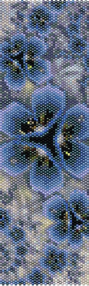 Peyote Pattern - Floral 4 by TheAbstractBeader on Etsy
