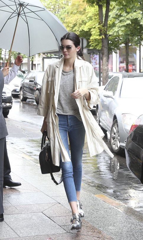 From London to Paris: Kendall Jenner headed across the Channel on Sunday  after a week in London, hitting Paris in a casual but chic ensemble