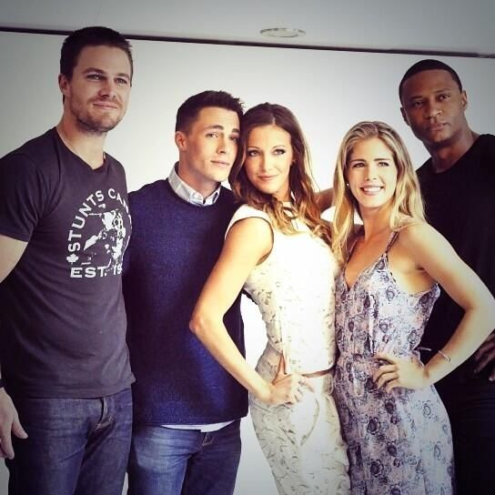 This is the cast of the CW show Arrow,