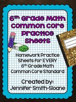 I wish I had these when I taught sixth grade. Maybe I can use for 5th grade!  6th Grade Common Core Math Homework Sheets Bundle