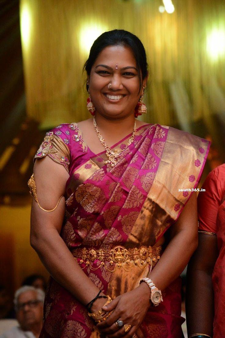 Telugu Actress Hema With Daughter and Husband At A Wedding (7) at Telugu Actress Hema Daughter in Saree  #Wedding Check more at http://south365.in/telugu-actress-hema-daughter-in-saree.html